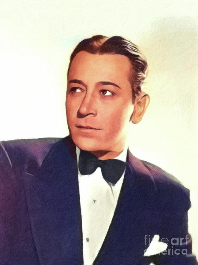 George Painting - George Raft, Vintage Actor by John Springfield