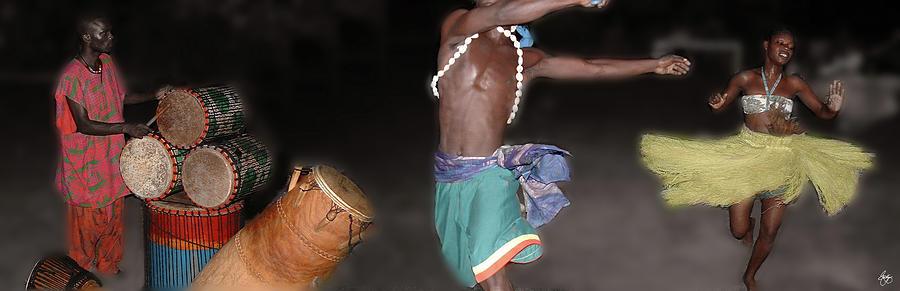 Ghana Dance Panorama by Wayne King