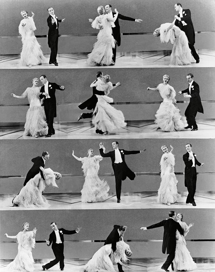 Ginger Rogers And Fred Astaire In Top Hat 1935 Photograph By Album