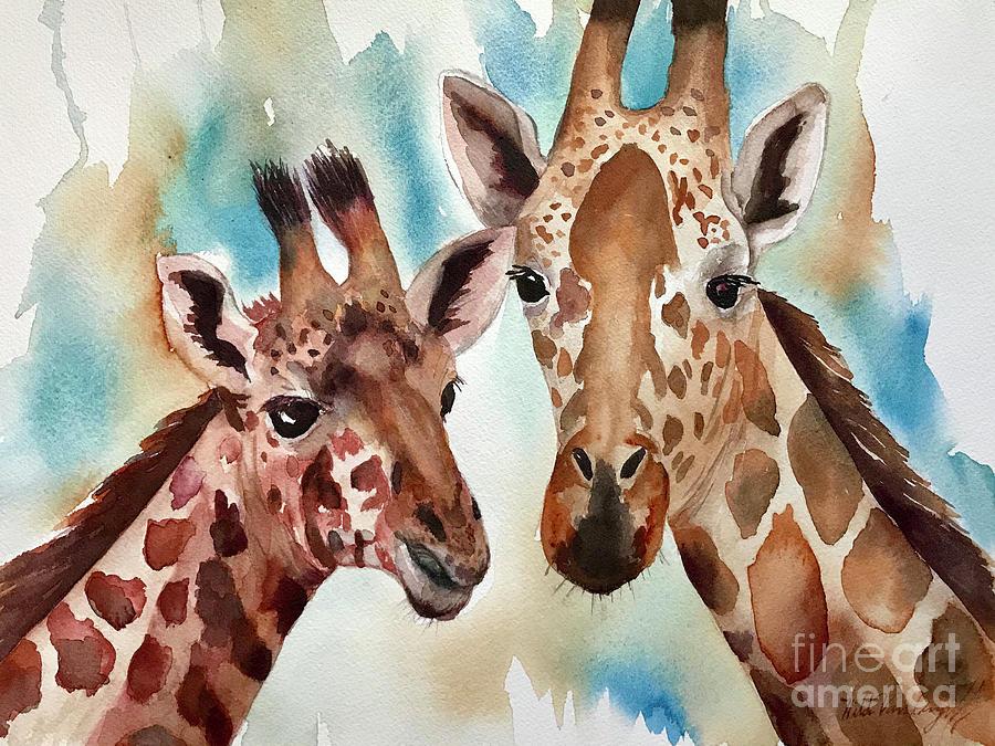 Giraffes by Hilda Vandergriff
