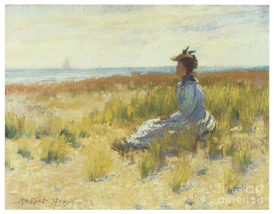 Girl Seated by the Sea by ROBERT HENRI