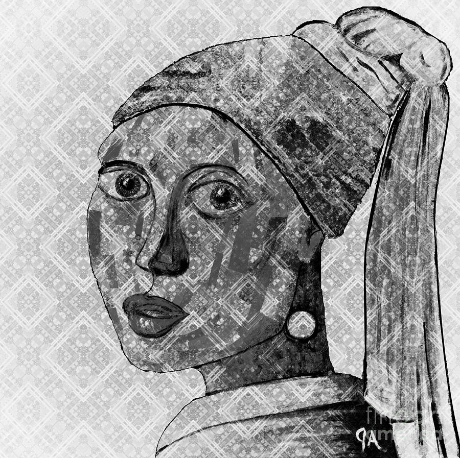 Girl With A Pearl Earring, Jeremy Style by Jeremy Aiyadurai