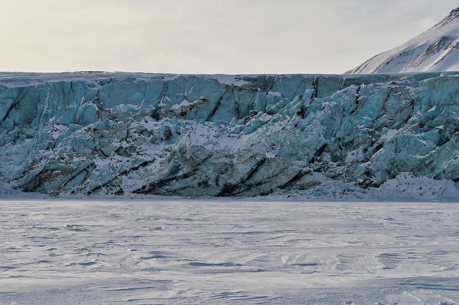 North Pole Photograph - Glacier Front On Svalbard by Kai Mueller