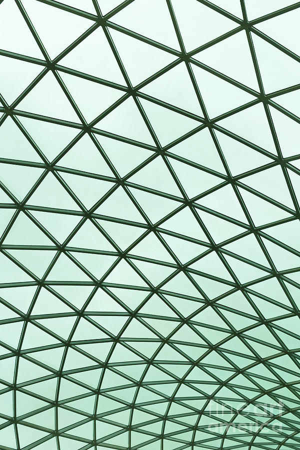 England Photograph - Glass Roof On The Atrium Of The British Museum In London, Englan 1 by Roberto Morgenthaler
