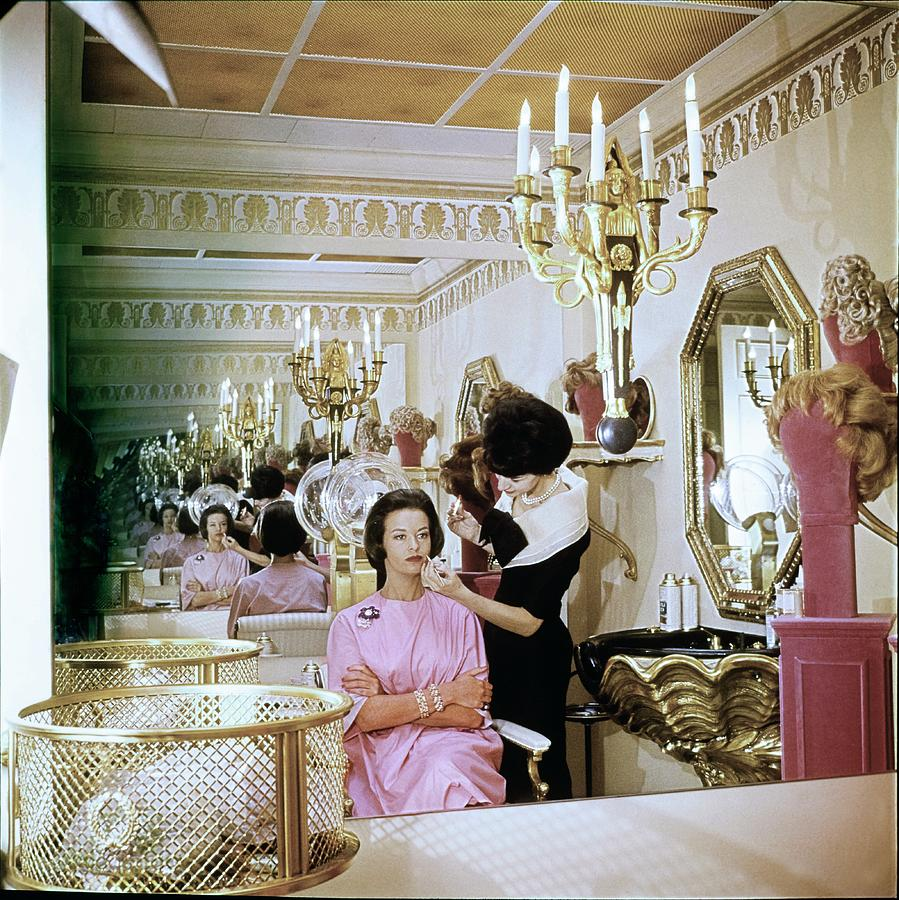 Gloria Vanderbilt At The House Of Revlon Photograph by Horst P. Horst