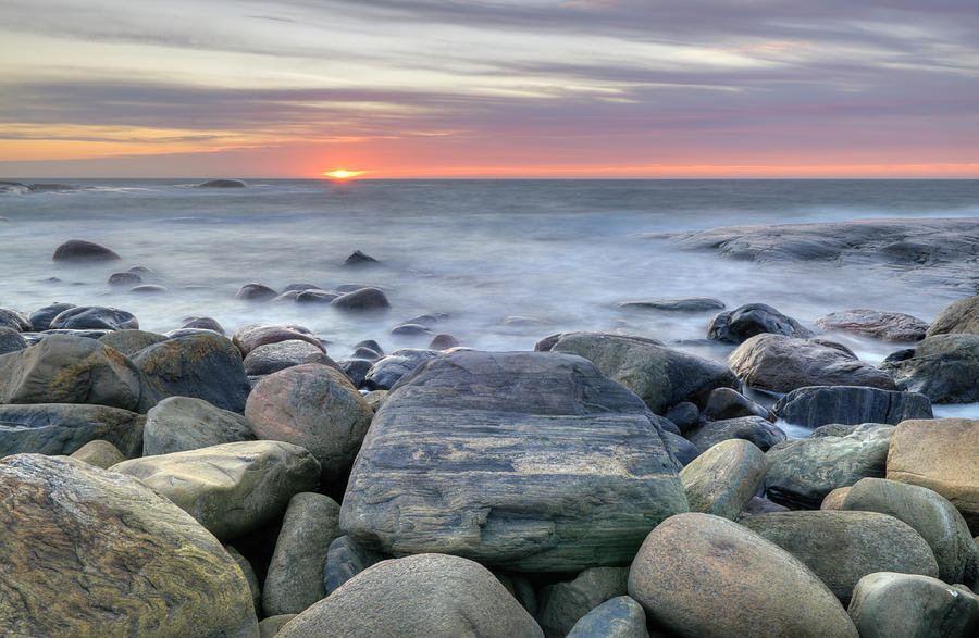 Glowing Sunset - Hdr Photograph by Clagge