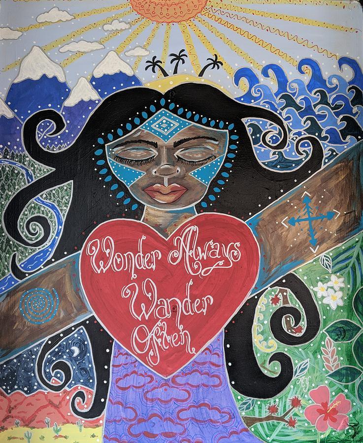 Holy Painting - Goddess Of Wonder by Angela Yarber