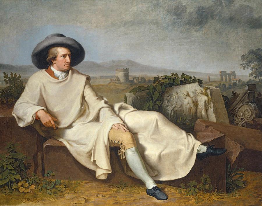 German Painters Painting - Goethe In The Roman Campagna 1 by Johann Heinrich Wilhelm Tischbein