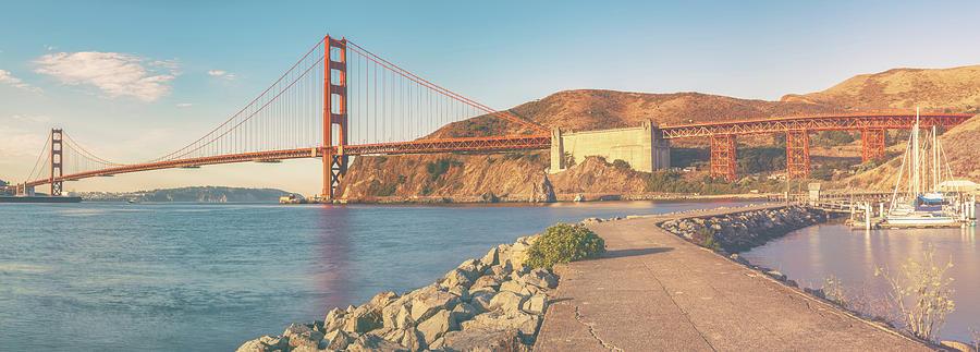 California Photograph - Golden Gate Pano 3 by Jonathan Nguyen