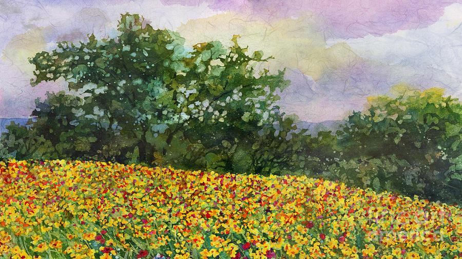 Golden Hillside Painting