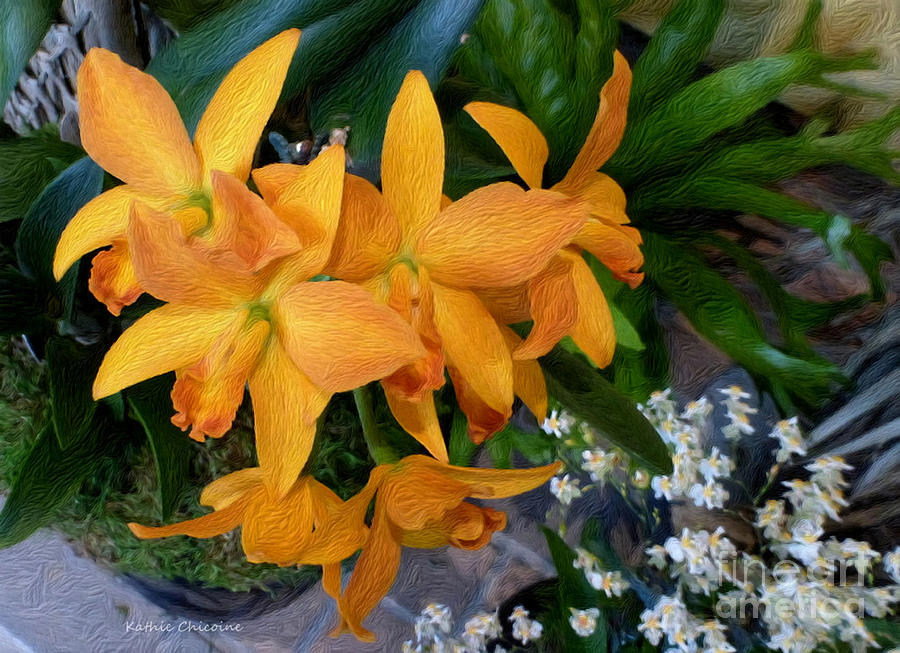 Golden Orchids by Kathie Chicoine
