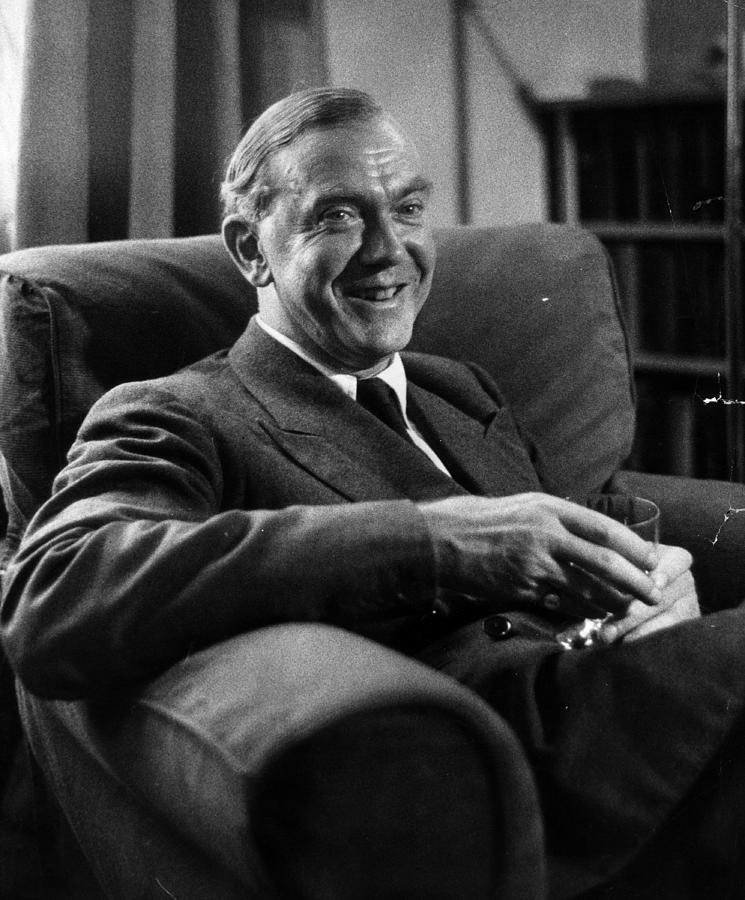 Graham Greene Photograph by Kurt Hutton