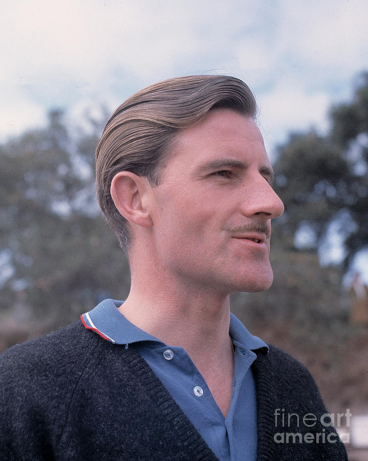 Graham Hill At Laguna Seca by Robert K Blaisdell