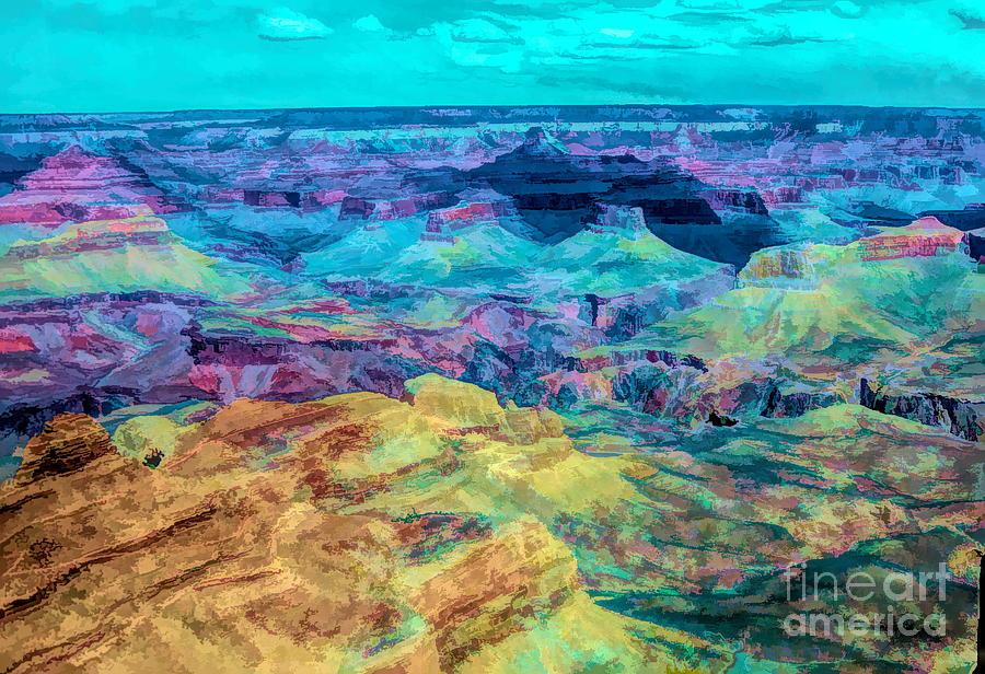 Grand Canyon Digital Art  by Chuck Kuhn