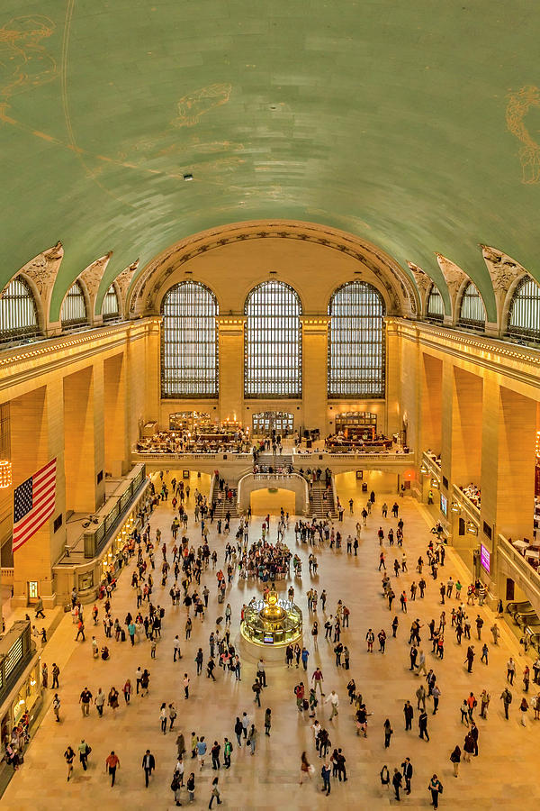 Grand Central Terminal Birds Eye View by Susan Candelario