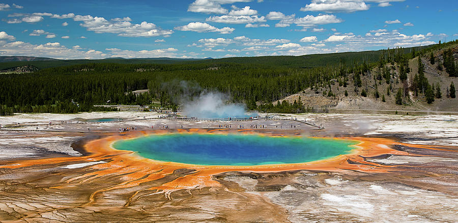 Grand Prismatic Spring Photograph by By Sathish Jothikumar
