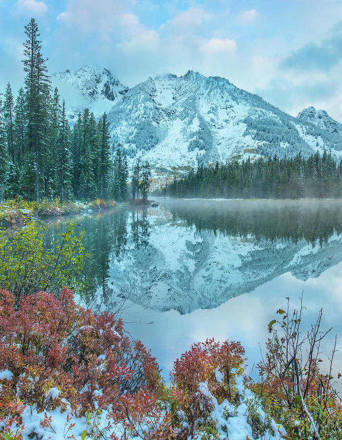 Mp Photograph - Grand Tetons From String Lake by Tim Fitzharris