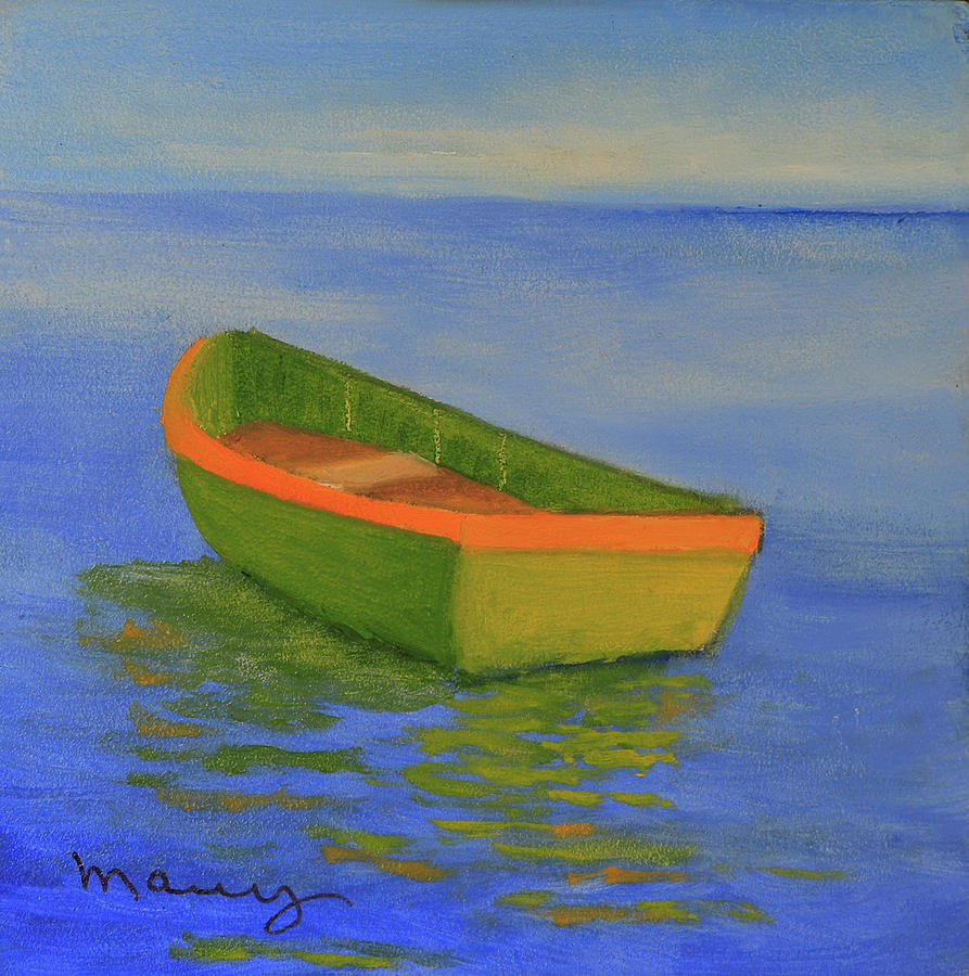 Green Boat by Alicia Maury