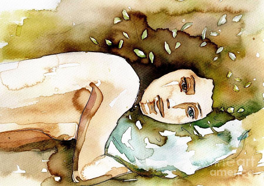 green portrait by Katarzyna Bruniewska-Gierczak