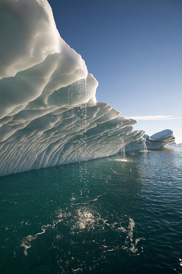 Greenland, Ilulissat, Melting Water Photograph by Paul Souders