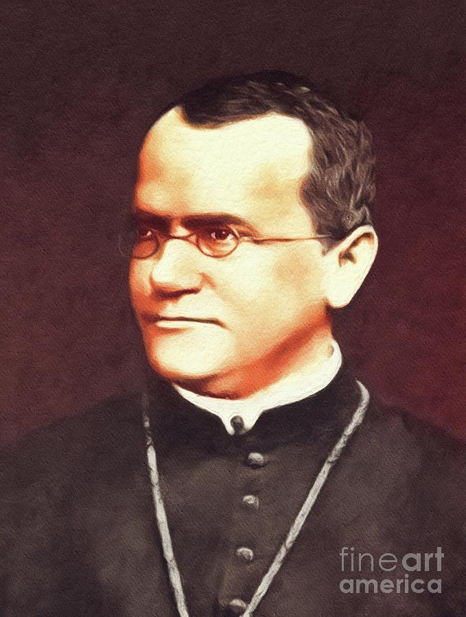 Gregor Painting - Gregor Mendel, Famous Scientist by Esoterica Art Agency