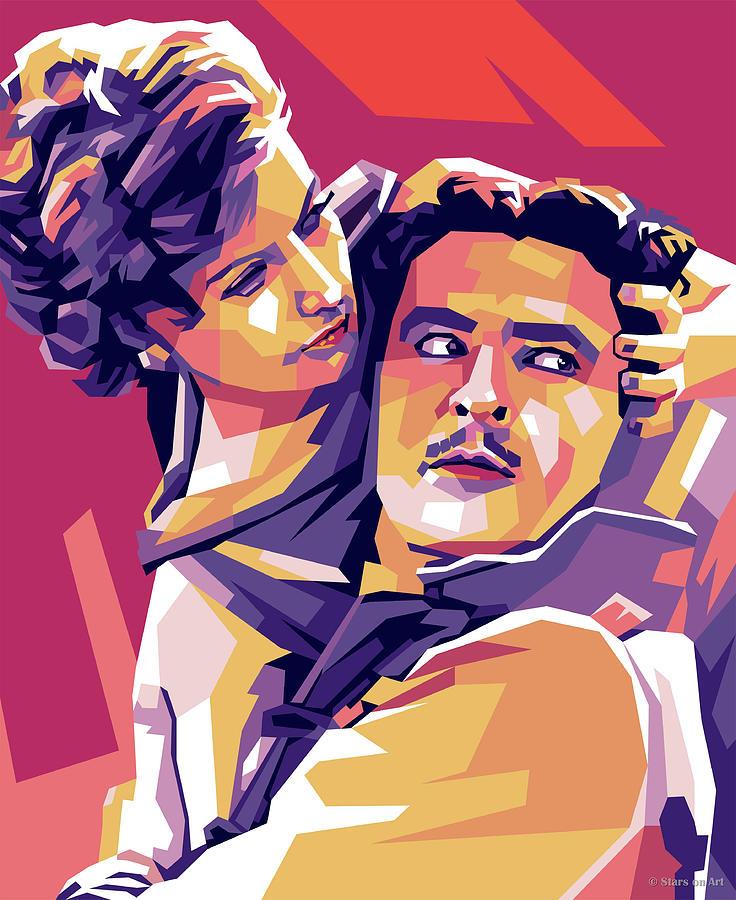 Greta Garbo And John Gilbert Digital Art