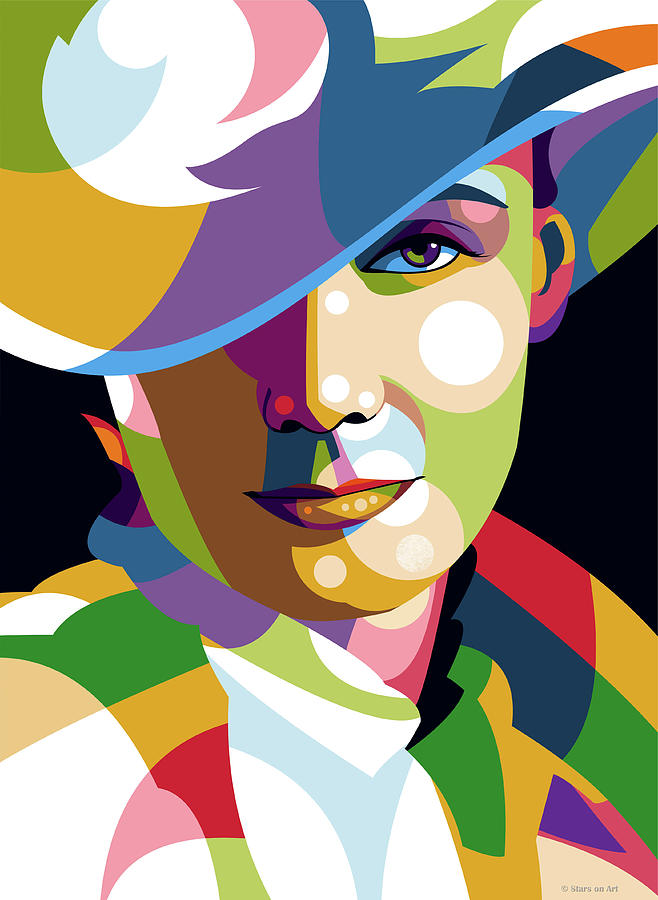 Greta Garbo by Stars on Art