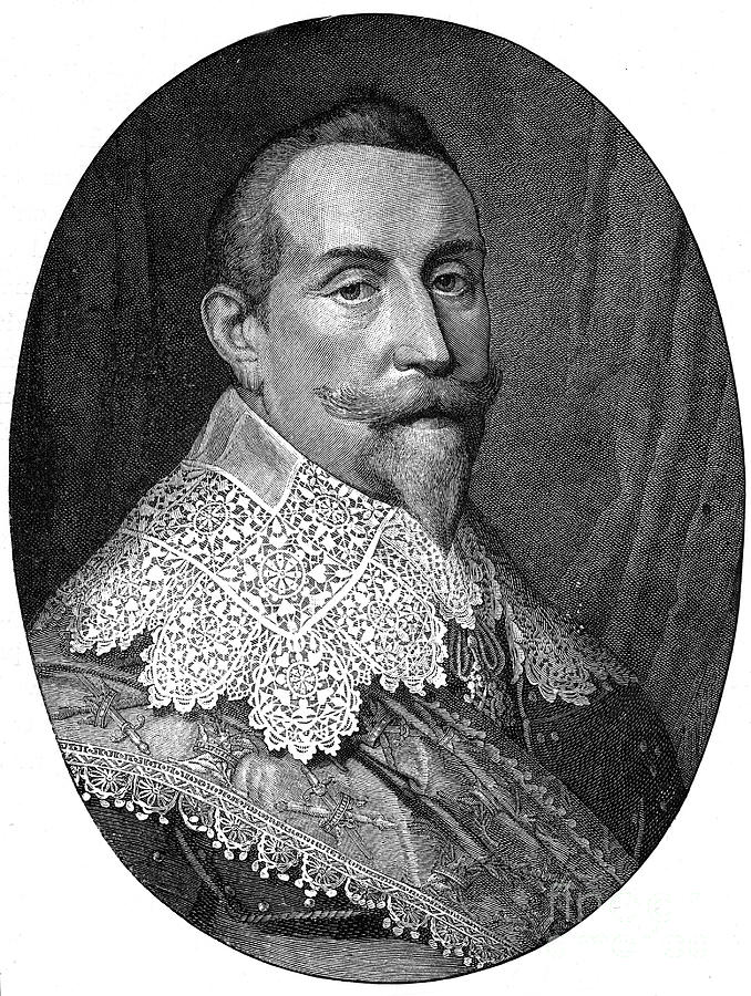 Gustavus Adolphus, 17th Century King Drawing by Print Collector