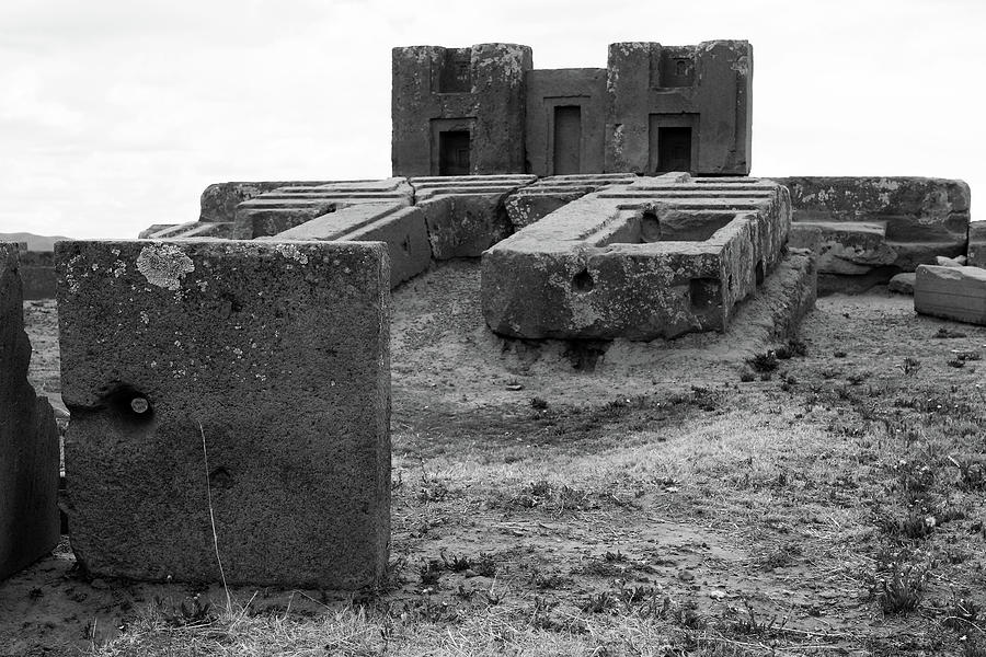 H-Blocks At Puma Punku, Bolivia by Aidan Moran