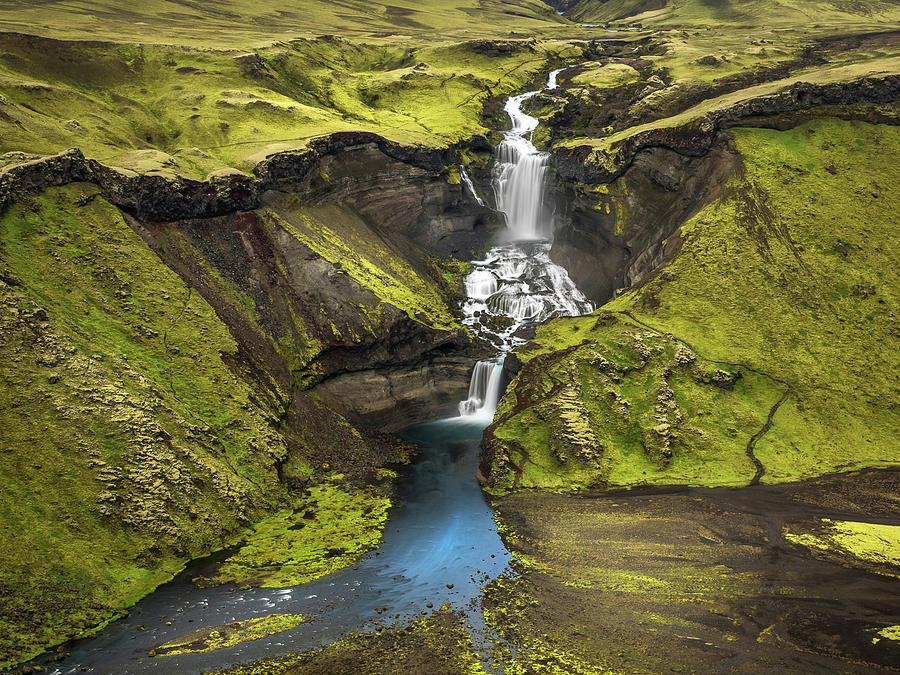 Haifoss Waterfalls-Iceland by Usha Peddamatham