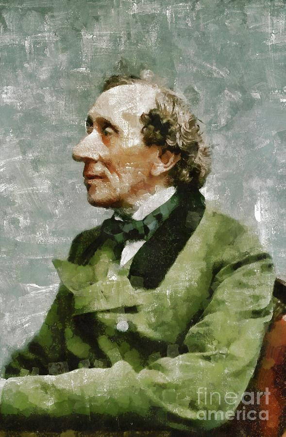 Hans Painting - Hans Christian Andersen, Literary Legend by Esoterica Art Agency
