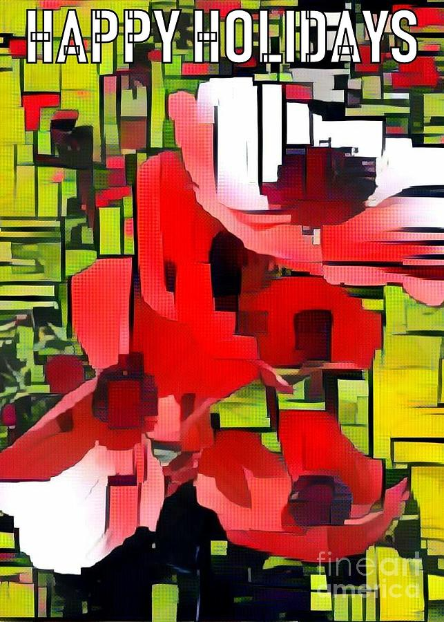 Happy Holidays Red and Green by Jodie Marie Anne Richardson Traugott          aka jm-ART