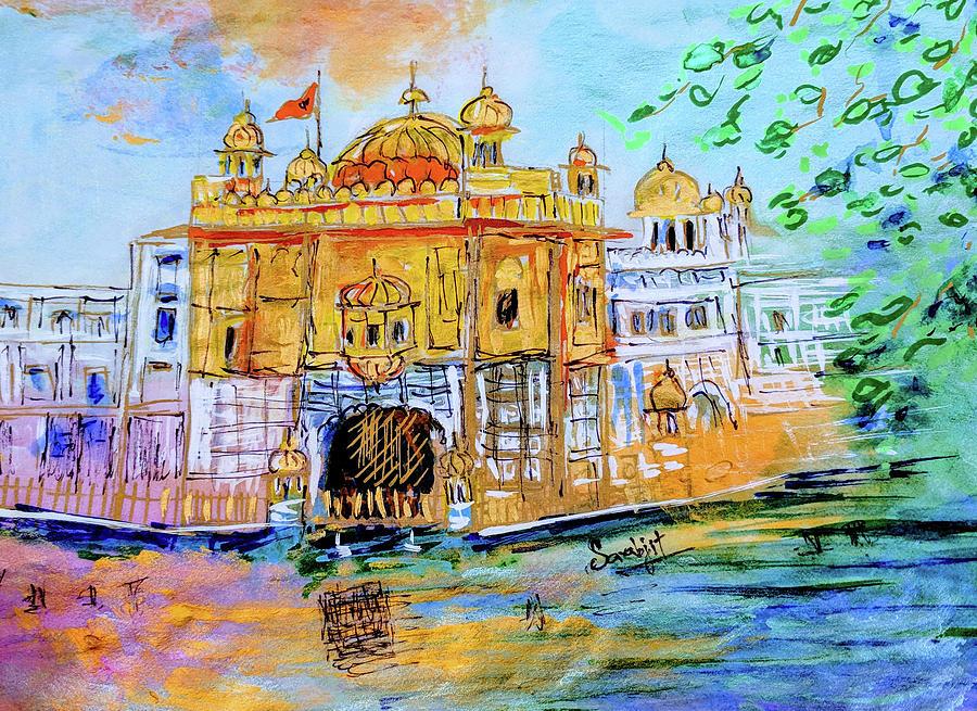 Harmandir Sahib by Sarabjit Singh