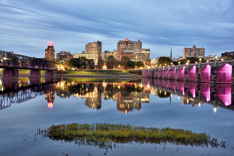 Harrisburg Photograph - Harrisburg Skyline - Pennsylvania by Brendan Reals