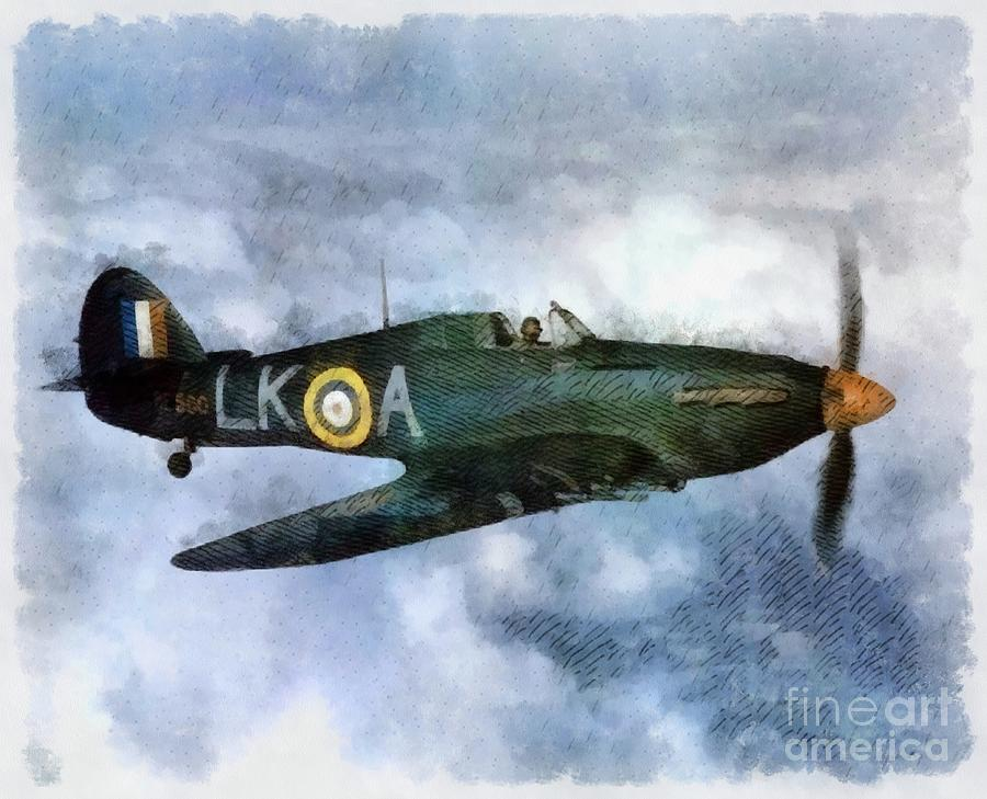 Spitfire Painting - Hawker Hurricane, Wwii by John Springfield