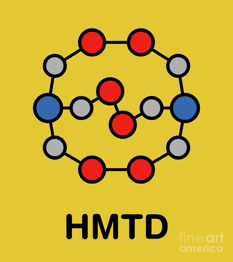 High Photograph - Hexamethylene Triperoxide Diamine Explosive Molecule by Molekuul/science Photo Library