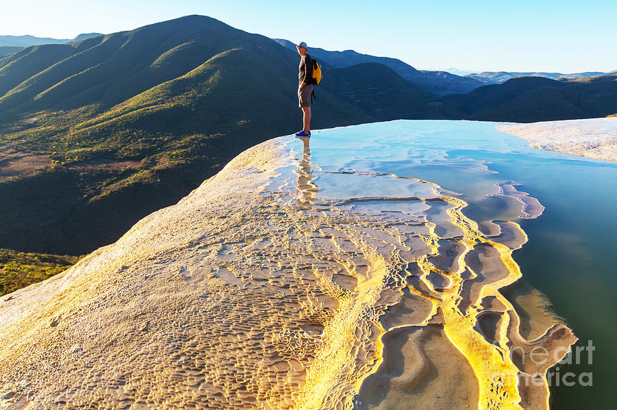 Destination Photograph - Hierve El Agua, Natural Rock Formations by Galyna Andrushko