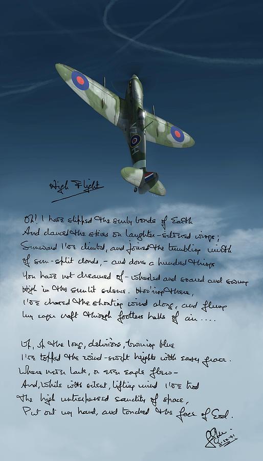 High Flight Digital Art - High Flight by Hangar B Productions
