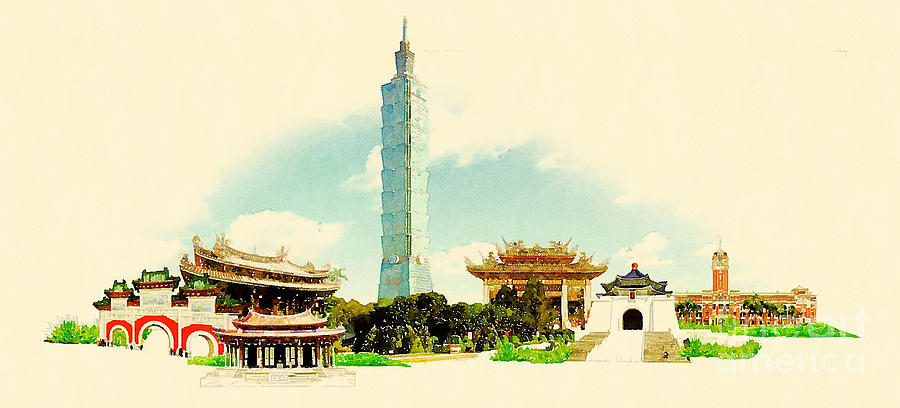 Taipei Digital Art - High Resolution Water Color by Trentemoller