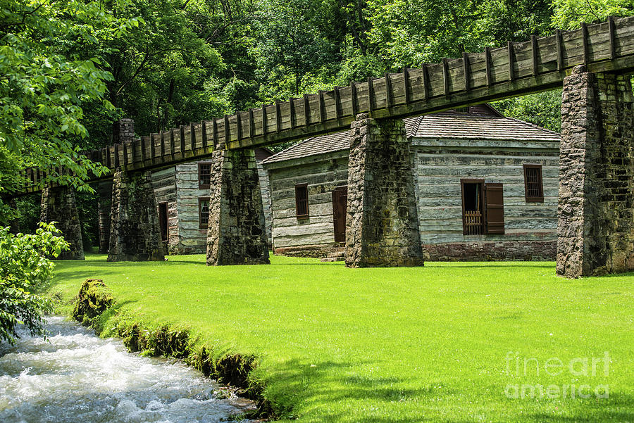 Historic Aqueduct - Spring Mill - Mitchell - Indiana by Gary Whitton