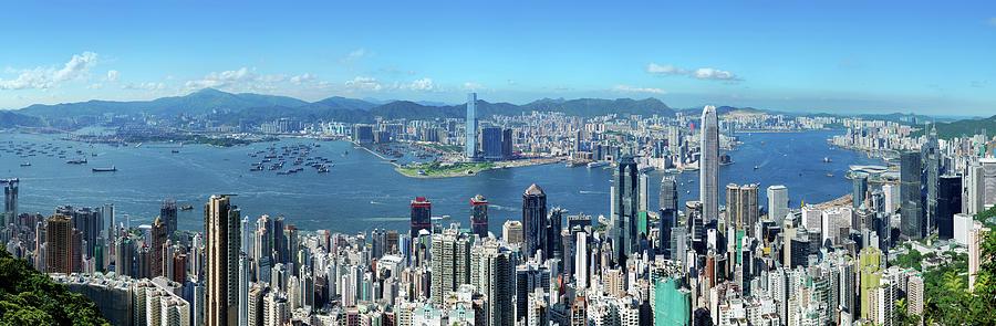 Hong Kong Victoria Harbor At Day Photograph by Samxmeg