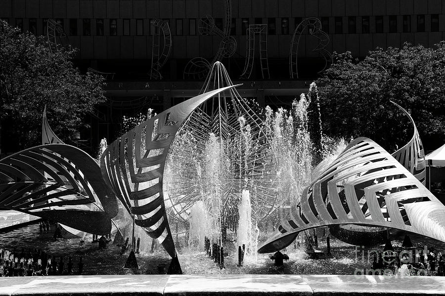 Hopkins Plaza Fountain Baltimore by James Brunker