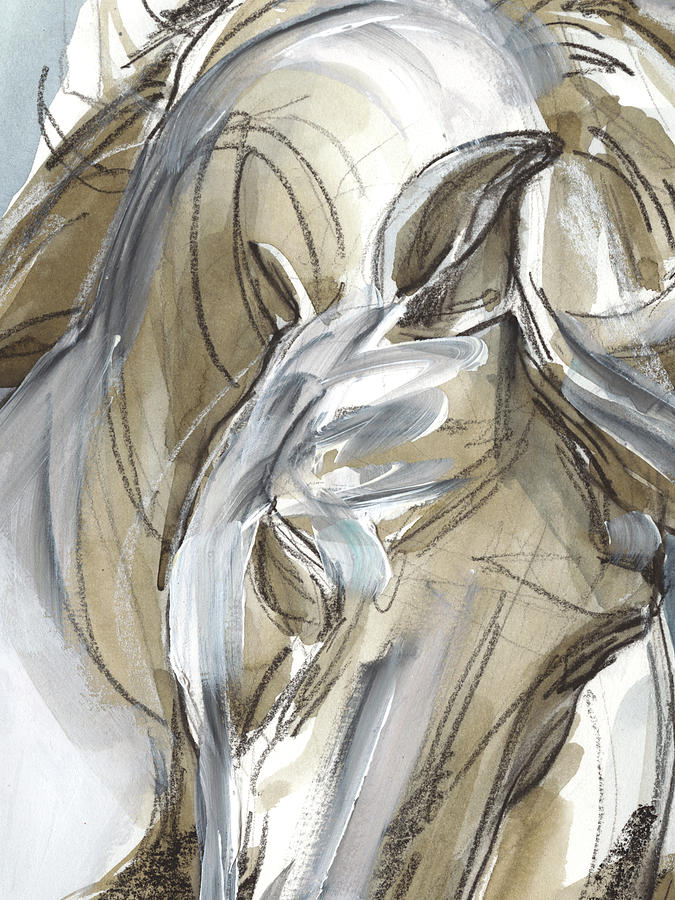 Animals Painting - Horse Abstraction I by Jennifer Paxton Parker