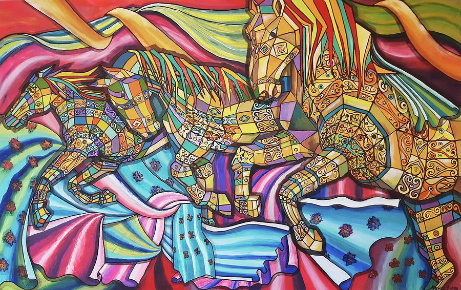 Horses by MARIA ROM