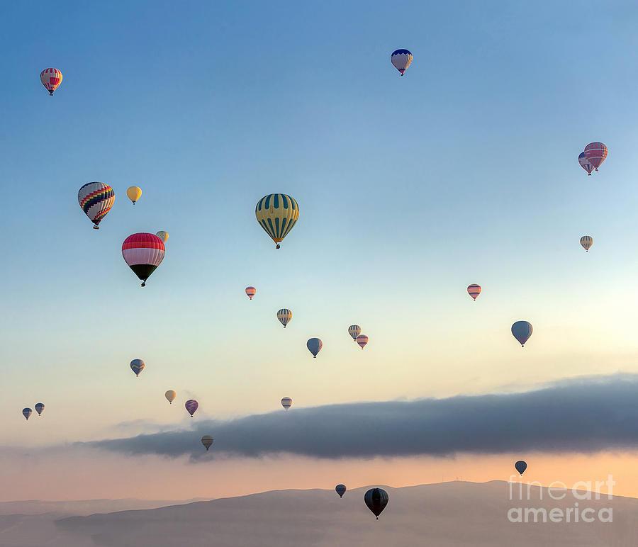 Kapadokya Photograph - Hot Air Balloons Atmosphere Ballons by Vadim Petrakov