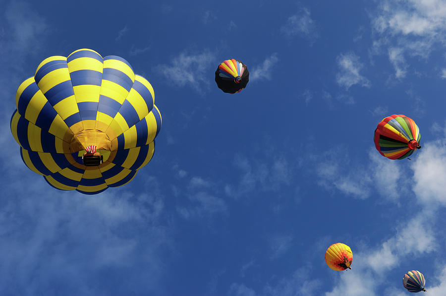 Hot Air Balloons, Sky And Clouds Photograph by Gomezdavid