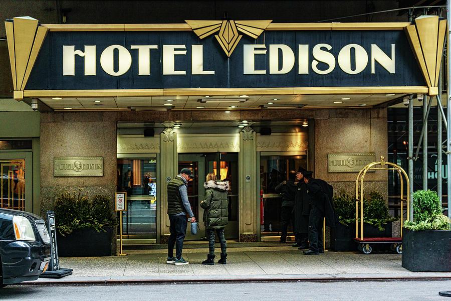 Hotel Edison Sign by Sharon Popek
