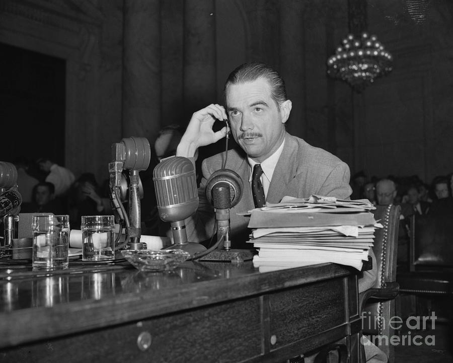 Howard Hughes Testifying During Senate Photograph by Bettmann