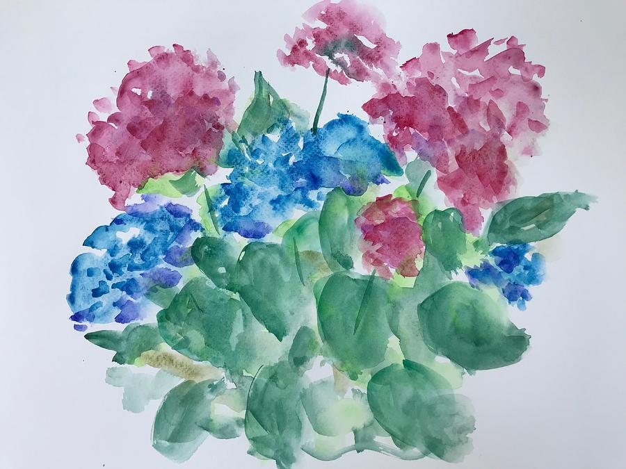 Hydrangeas Painting - Hydrangeas by Marita McVeigh