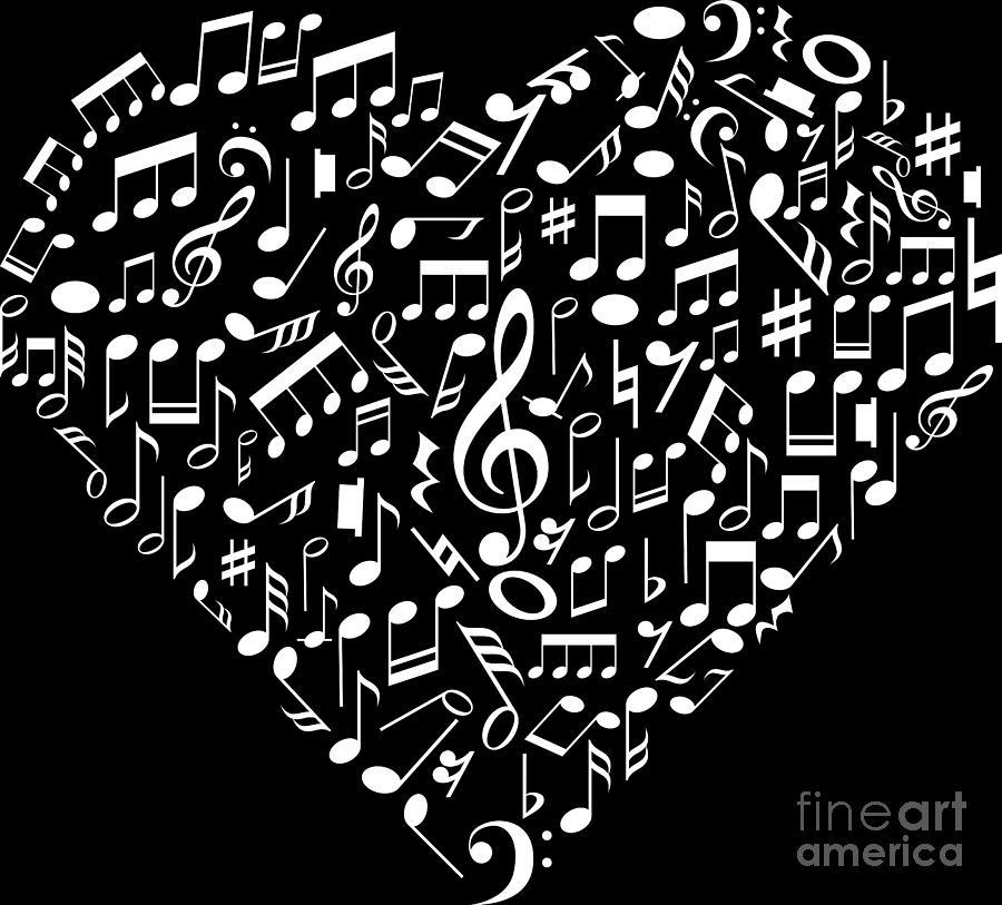 I Love Music Musical Symbols Musician